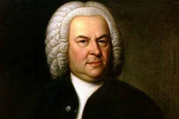 Johann Sebastian Bach (aged 61) in a portrait by Elias Gottlob Haussmann.