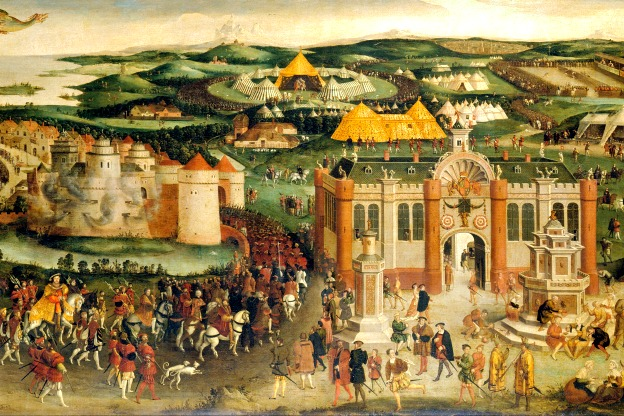 Portion of an engraving by James Basire in 1774, from a 16th-century oil painting in the collection of George III of England.