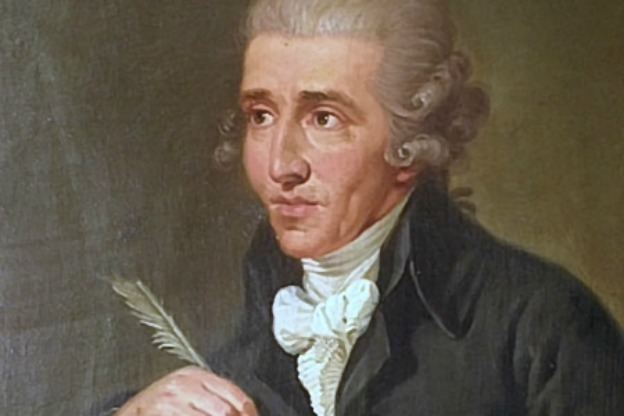 Portrait of young Joseph Haydn by Ludwig Guttenbrunn, ca. 1770.
