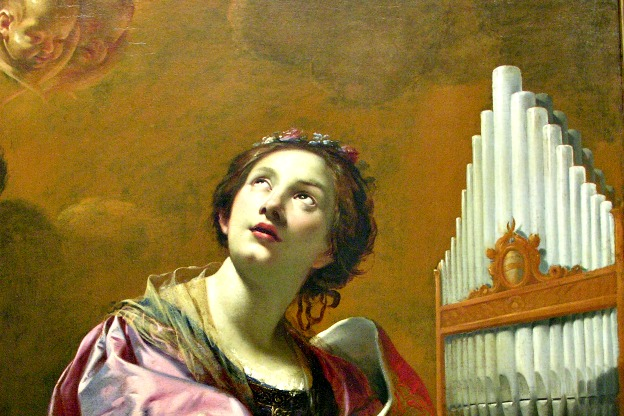 Detail from a painting of Saint Cecilia by Simon Vouet.