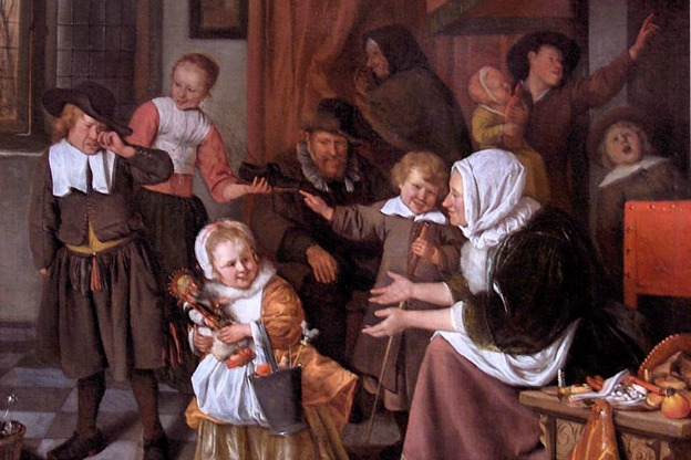 Detail from The Feast of St. Nicholas, circa 1663-1665, by Jan Steen.