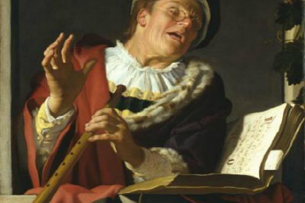 Singender Zinkspieler (1623) by Gerard van Honthorst