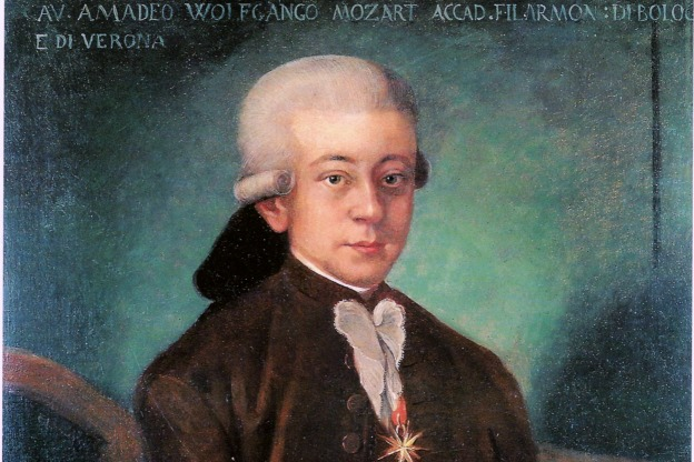 """""""Bologna Mozart"""" copied in 1777 in Salzburg by an unknown painter from a lost original."""