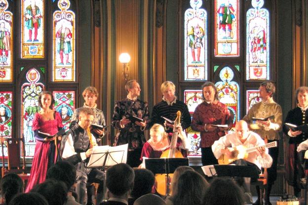 Ensemble Villancico in concert.