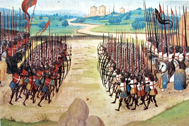 A Depiction of the Battle of Agincourt (1415).