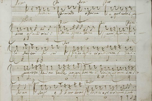 A manuscript written in Vinci's hand.