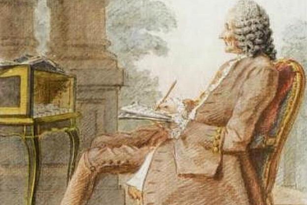 Portrait of Rameau by Carmontelle, 1760
