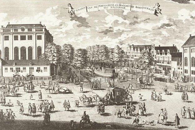 Portuguese Synagogue in Amsterdam,18th century.