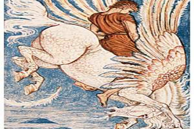 Walter Crane, Pégase. Illustration from the end of the 19th century.