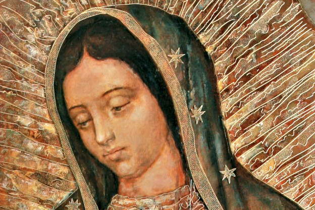 The image of Our Lady of Guadalupe is depicted in a contemporary painting. The feast of Our Lady of Guadalupe, patroness of the Americas, is Dec. 12.