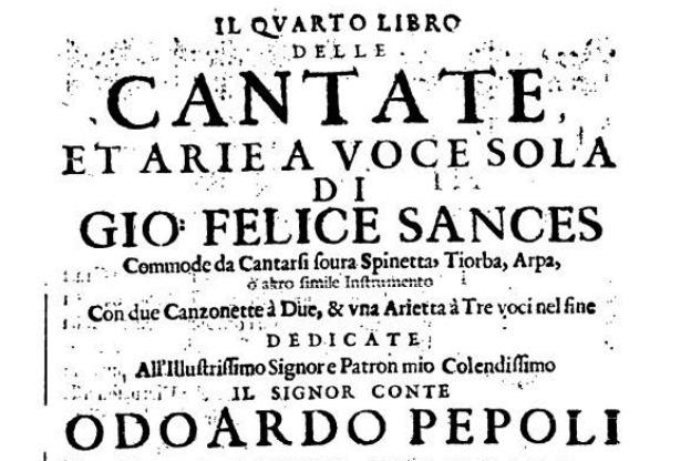 Sances Cantatas and Arias, Book 4.
