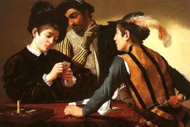 Caravaggio, The Cardsharps, c. 1594.
