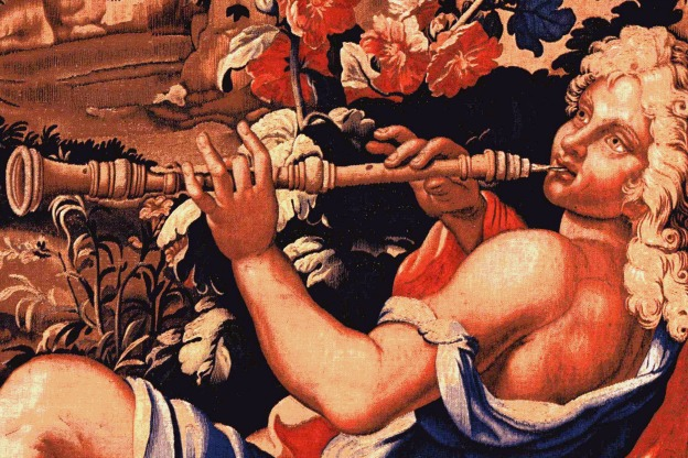 """Danse des Nymphes"" tapestry detail - Gobelins manufactory, 1687."