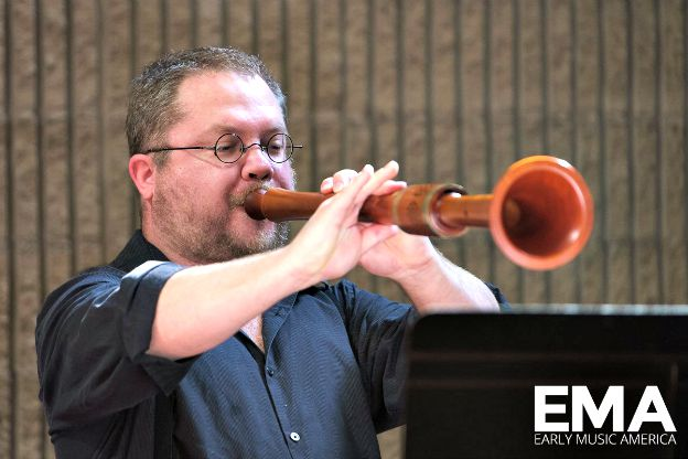 C. Keith Collins of Indiana University's Forgotten Clefs renaissance wind band, 2015.