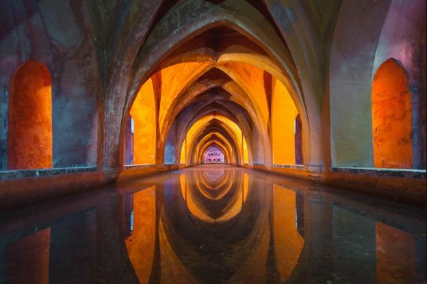 A tunnel in a Spanish church.