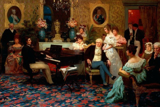 Chopin plays for the Radziwi??s, 1829.