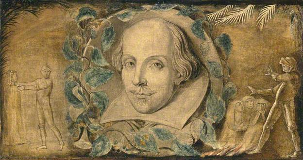A portrait of William Shakespeare, by William Blake.