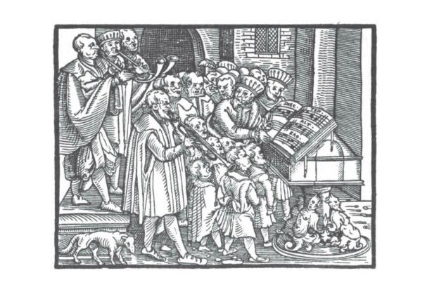 Detail of Hermann Finck's Practica Musica.