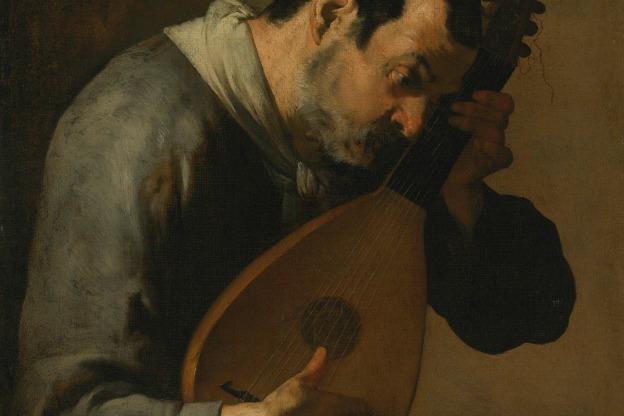 The Sense of Hearing: A Man Playing a Lute by Bartolomeo Passante.