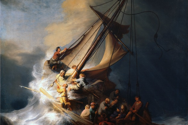 Rembrandt: The Storm on the Sea of Galilee, 1633.