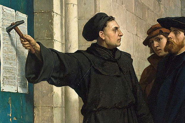 Painting of Martin Luther by Belgian painter Ferdinand Pauwels.