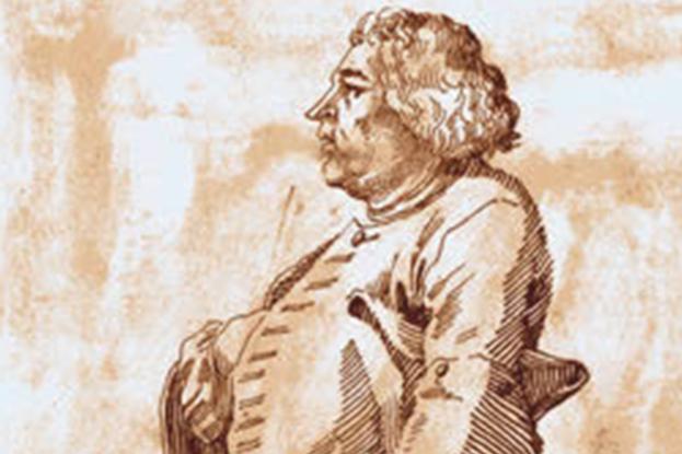 Portrait of Johann Melchior Molter by Pier Leone Ghezzi (1674–1755).