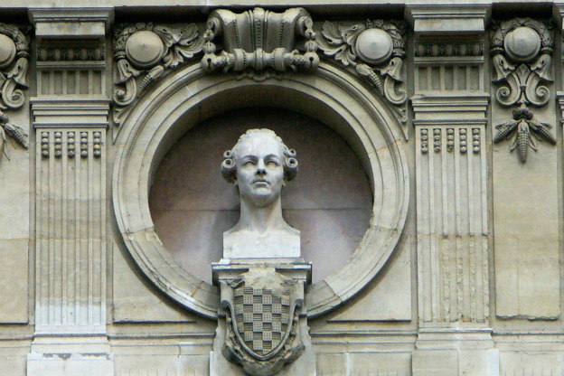 Philidor's bust on the façade of the Opera Garnier in Paris.