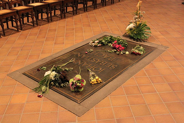 The grave of Johann Sebastian Bach, one of the most famous borrowers of all time.