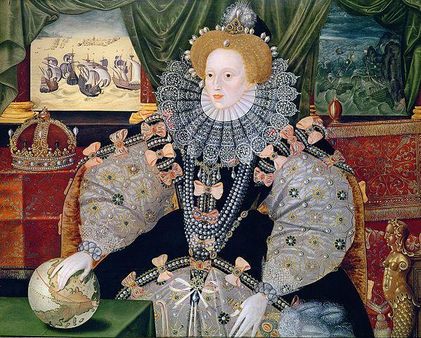 An anonymous portrait of Elizabeth I, known as the Armada Portrait.