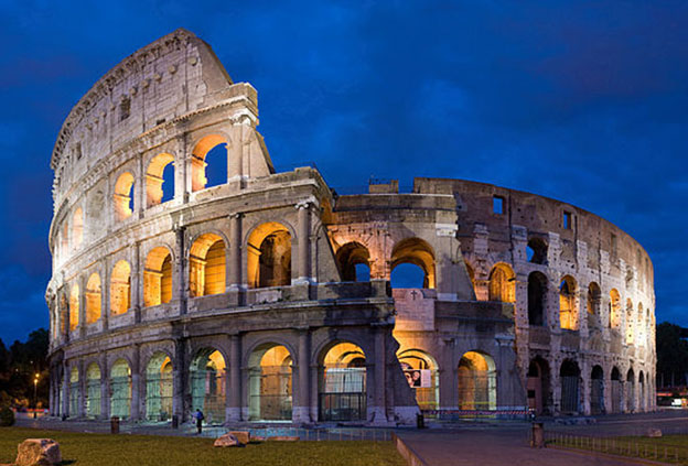 An iconic Roman sight, The Colosseum.