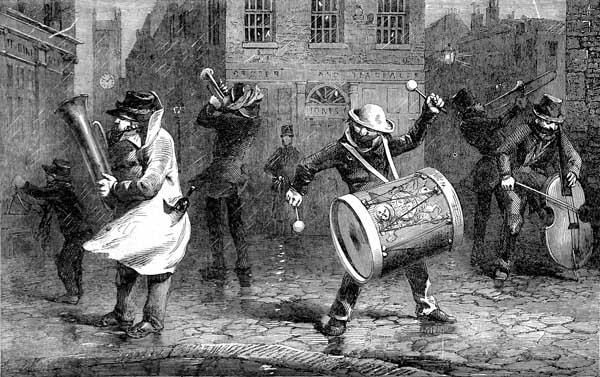 H.G. Hine's The Waits at Seven Dials (1853).