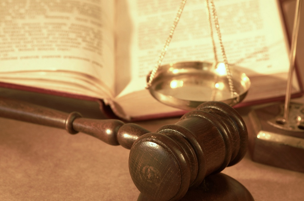gavel and book close up
