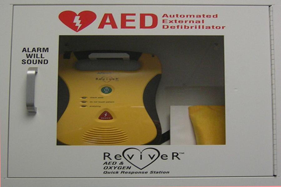 Patrol Car defibrillator.