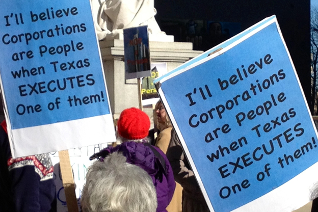 Protesters at Citizens United Rally