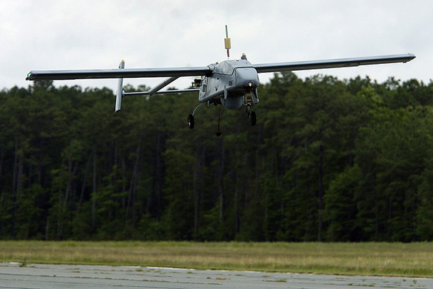 An unmanned aerial vehicle completes its demonstration test flight