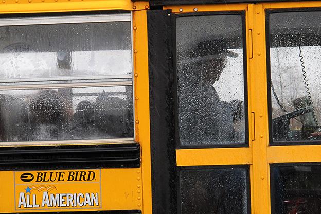 A bus driver in Fortville.