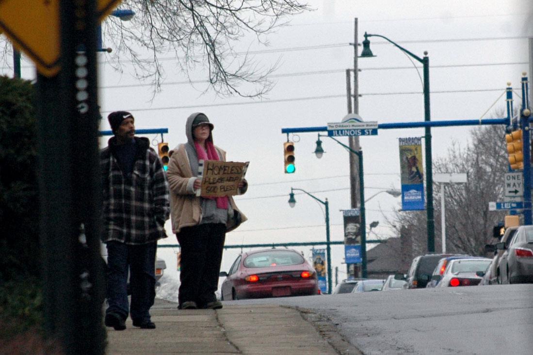 downtown panhandling