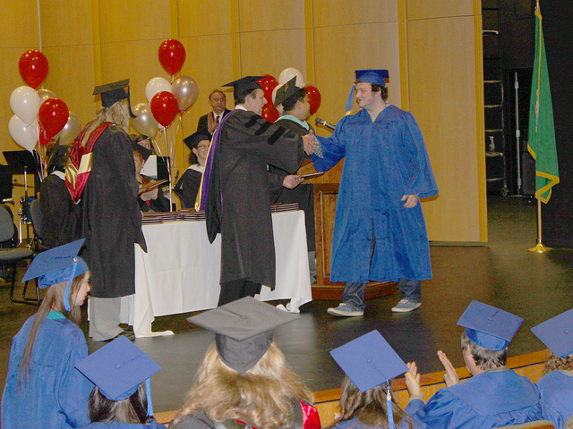 A GED ceremony in Washington state.