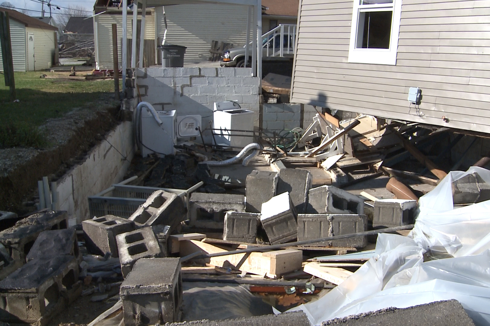 The tornado ripped Larrick and Glenna's house off its foundation