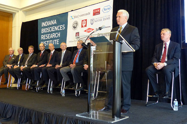Pence at indiana biosciences center announcement