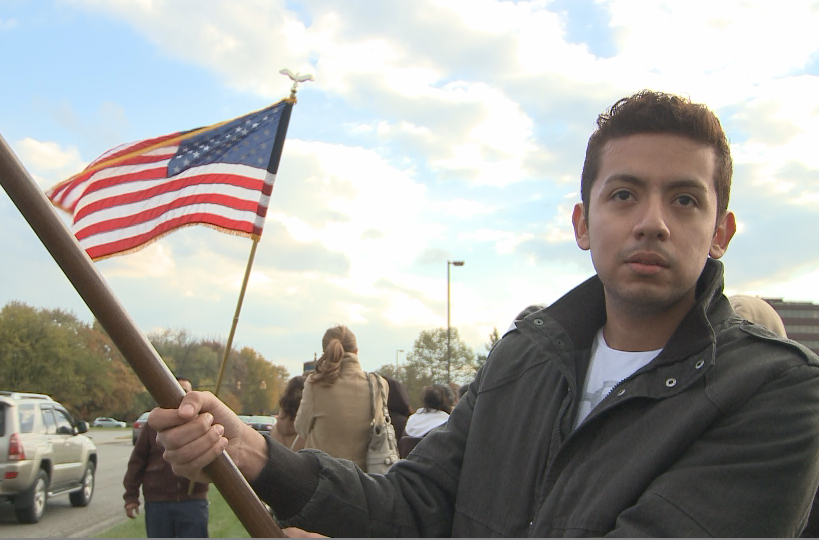 Demonstrators are asking congress to provide a pathway to citizenship for the US 11 million undocumented immigrants
