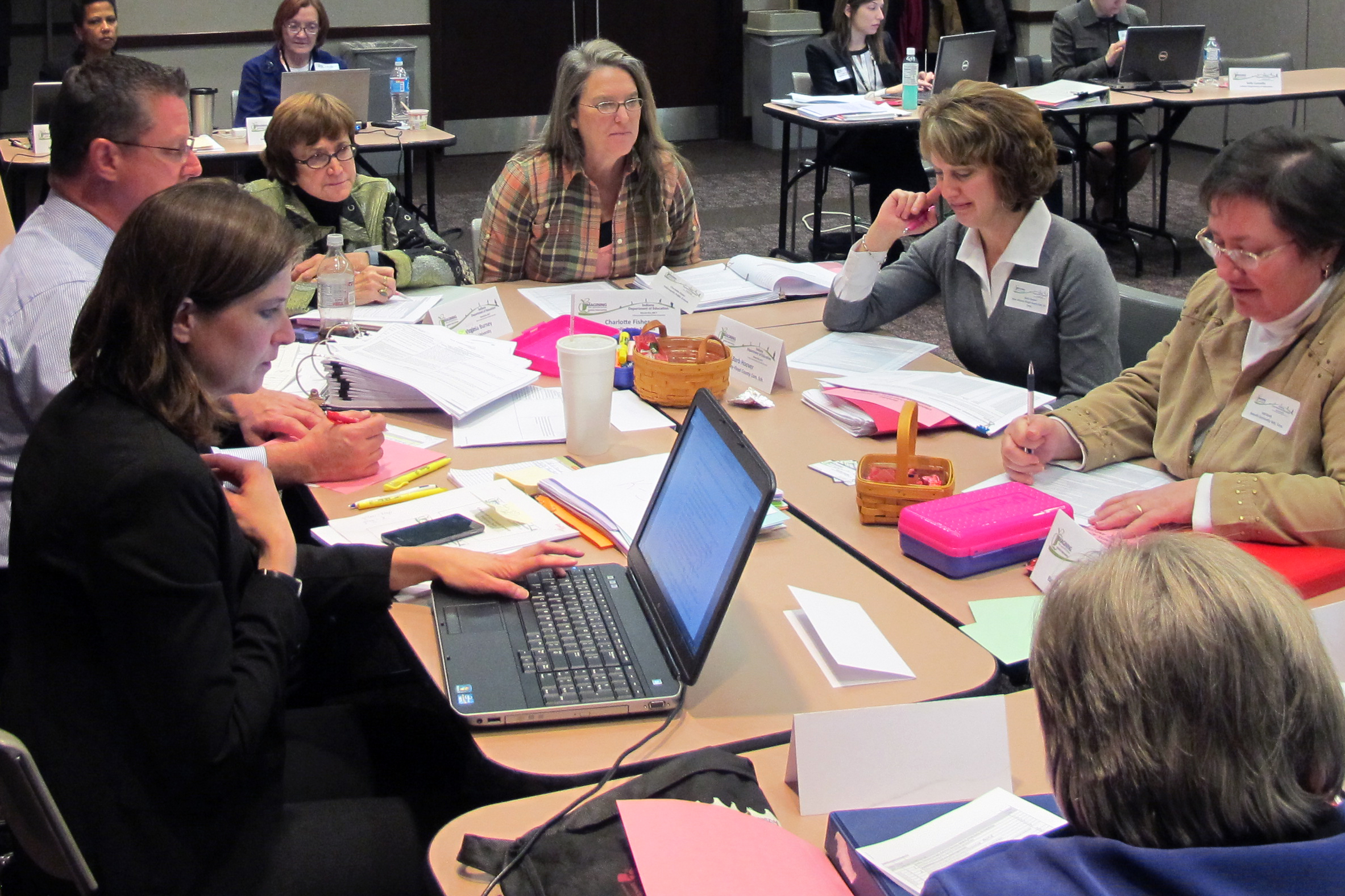 K-12 educators and subject matter experts reviewed the state's academic standards during a two-day workshop in Indianapolis last week.