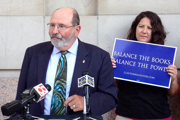 Michael Claytor is the Democratic opponent of current State Auditor Suzanne Crouch.