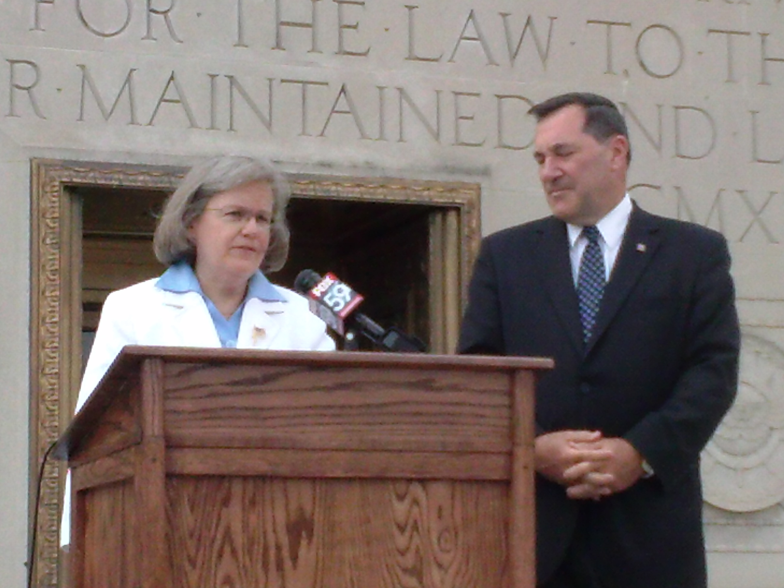 Holly Petraeus and US senator Donnelly