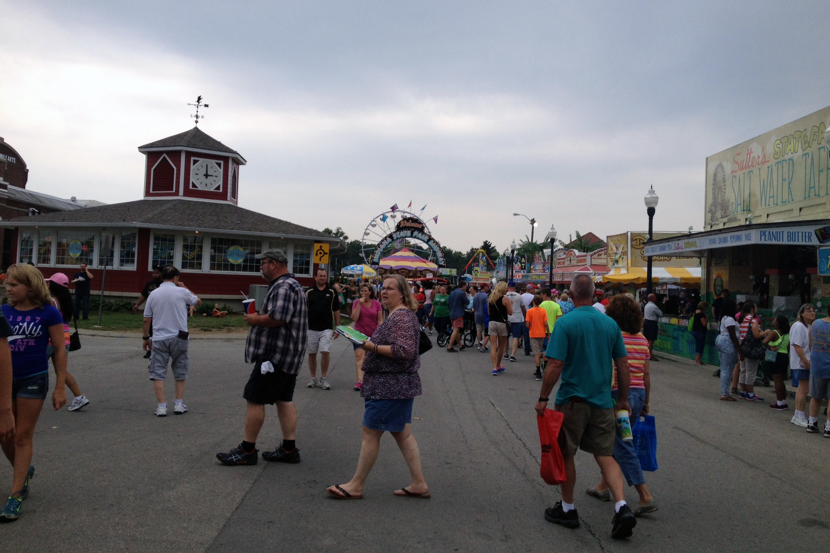 attendees at Indiana State Fair