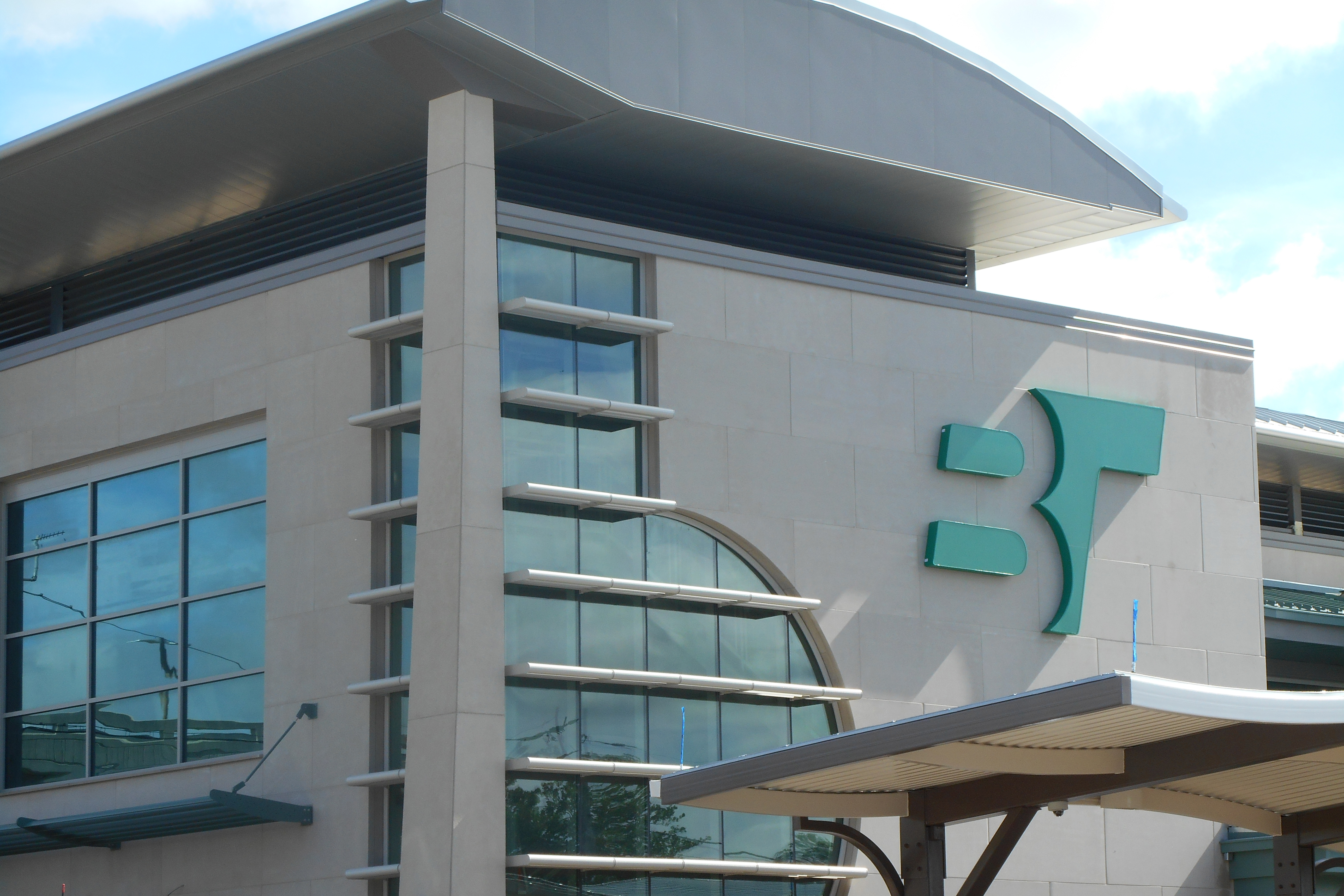 The Transit Center serves as the downtown hub for Bloomington Transit