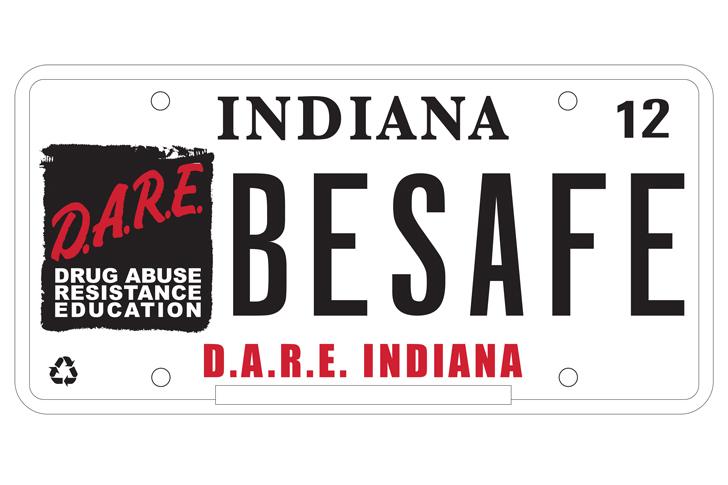 dare license plate
