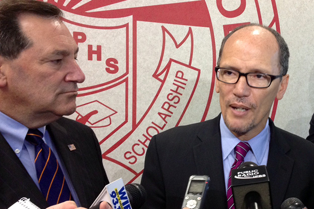 Joe Donnelly and Thomas Perez