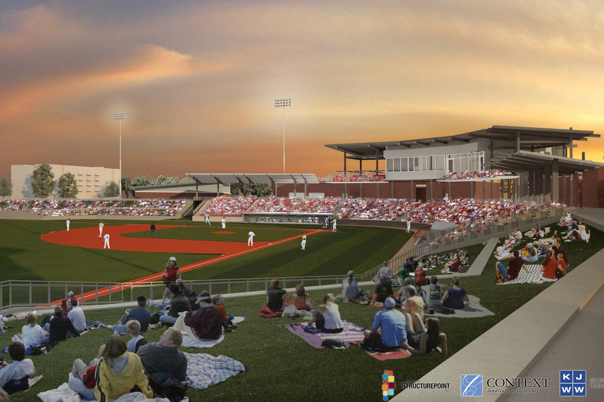 Kokomo Baseball stadium artist rendering