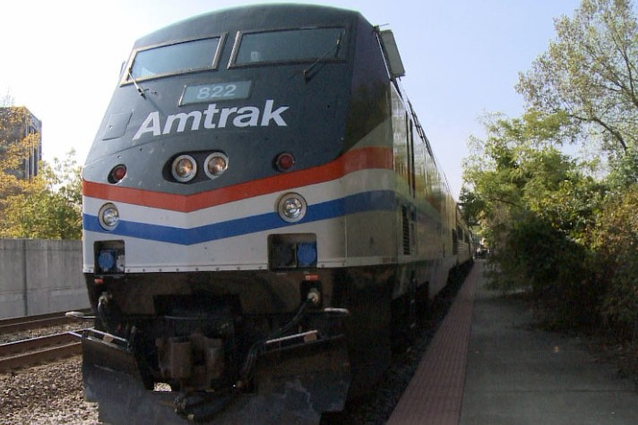 amtrak train in Lafayette